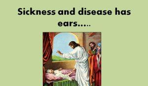 Sickness and disease ears slide for twitter etc