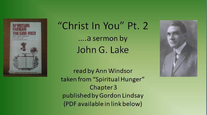 """PDF: """"Christ in You"""", Pt  2 – a sermon by John G  Lake – Ann"""
